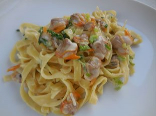 Tagliatelle with cockles